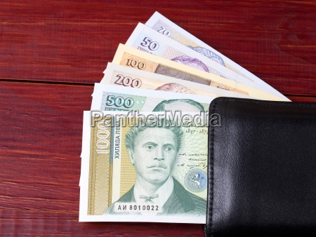 bulgarian lev in the black wallet