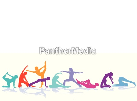 gymnastics figures sport illustration
