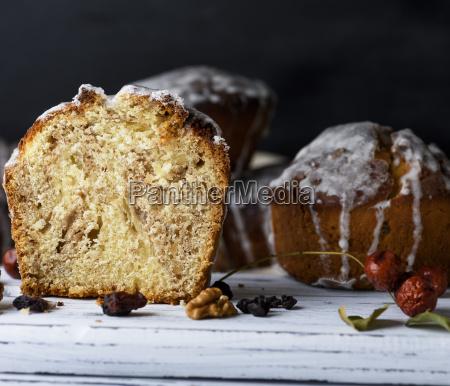 baked easter cake with white lemon
