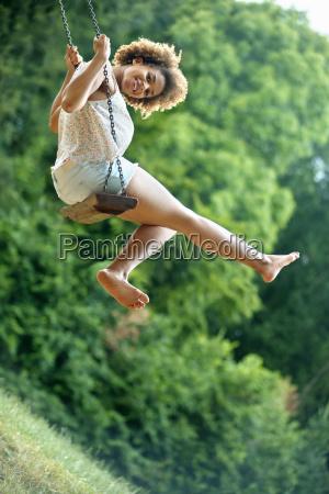 portrait of young woman having fun