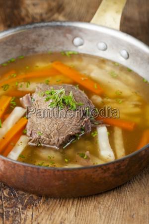 tafelspitz in a soup pot