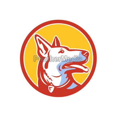 police dog circle mascot