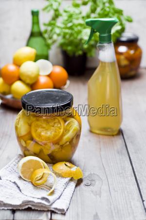 homemade cleansing agent vinegar peels of