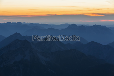 austria germany bavaria zugspitze summits at
