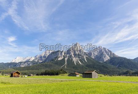 austria tyrol lermoos ehrwalder becken view