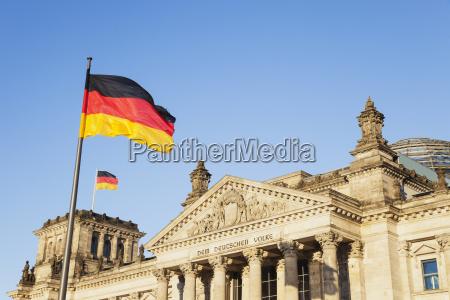 germany berlin regierungsviertel reichstag building with