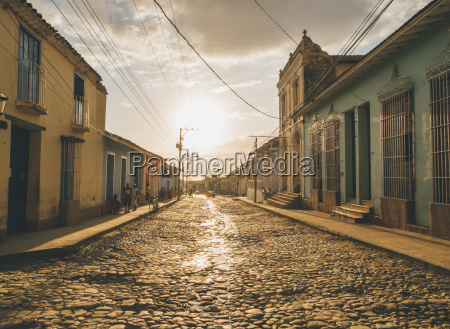 cuba trinidad people standing in the