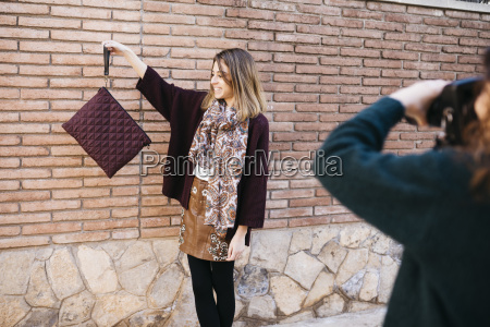 fashion designers doing a photo shoot