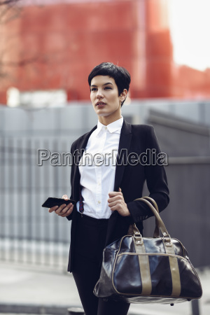 portrait of fashionable young businesswoman with