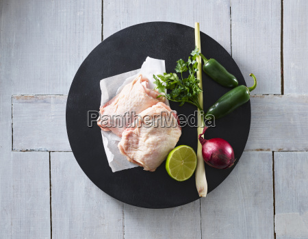 raw chicken lemongrass red onion lime