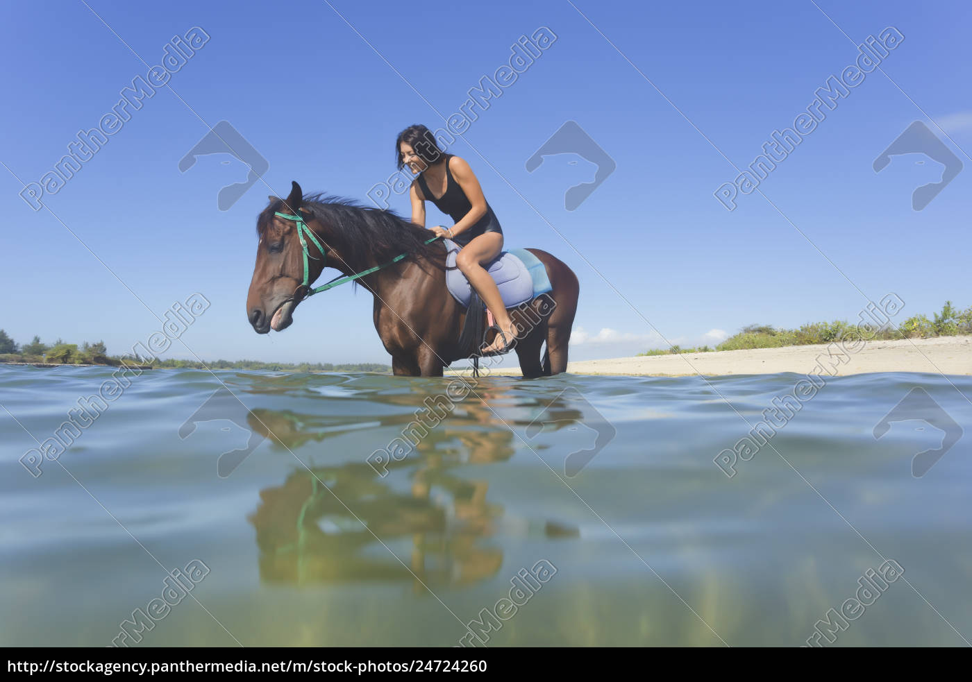 indonesia, , bali, , woman, sitting, on, horse, - 24724260