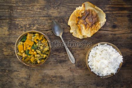 curry dish with cauliflower butternut pumpkin