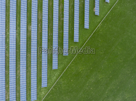germany bavaria aerial view of solar