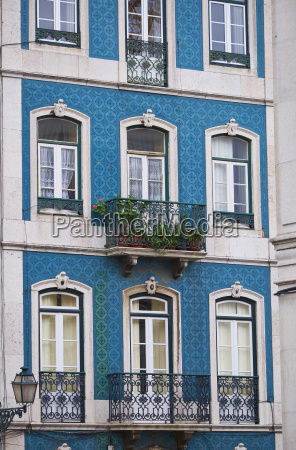 portugal lisbon facade of house with