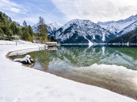 austria tyrol ammergau alps lake plansee