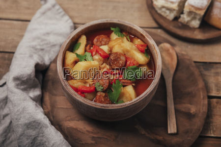 riojan cuisine stew with potatoes and
