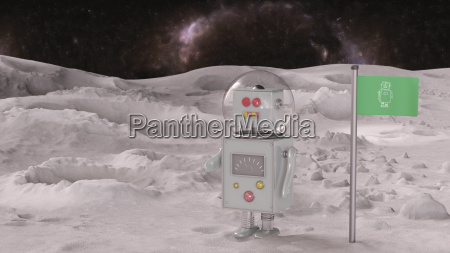 robot on planet in the universe