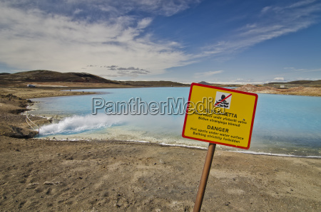 iceland myvatn artificial lake of bjarnarflag
