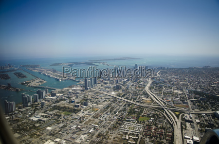 usa florida miami aerial view