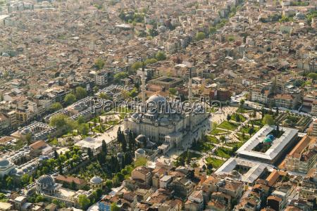 turkey istanbul aerial view of suleymaniye