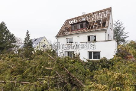 germany stuttgart demolition of a detached