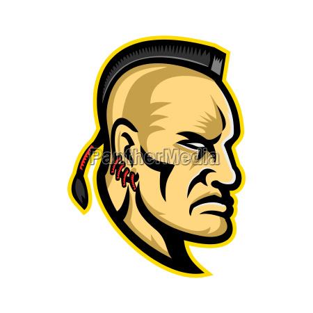 native american mohawk mascot