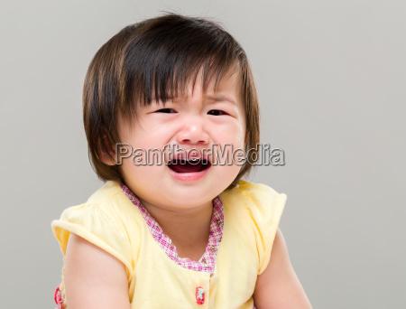 baby girl crying