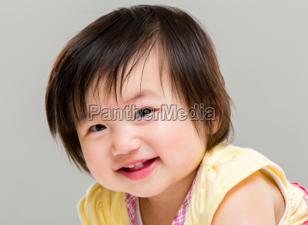 adorable little baby girl smile