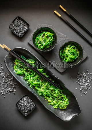 seaweed salad in bowl