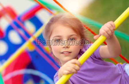 little girl on playgarden