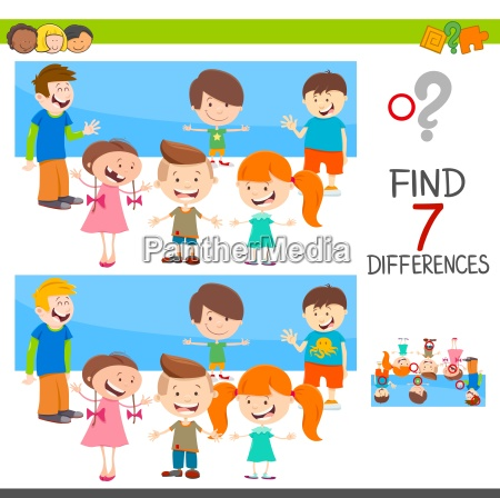 differences game with children characters