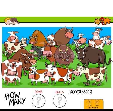 counting cows and bulls educational game