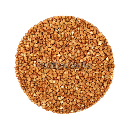 round shaped dried buckwheat isolated on