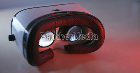 virtual reality device equipment with red