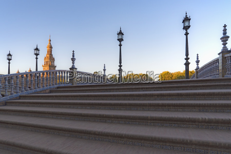 spain andalusia seville stairway on plaza