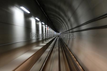metro vancouver skytrain tunnel in vancouver