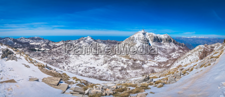 mountain winterscape of lovcen national park