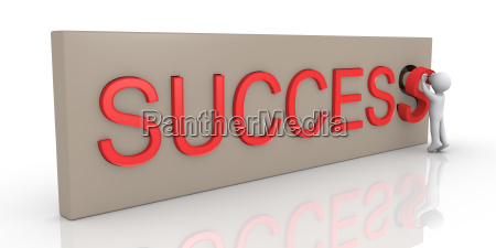 3d person finishing success word