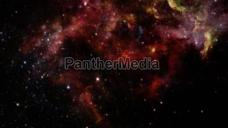 nebula and galaxies in dark space