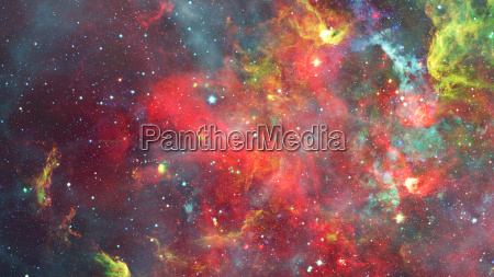 nebula and galaxies in space elements