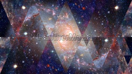 nebula space and sacred geometry elements