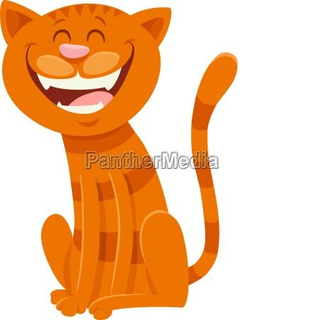 funny cat cartoon animal character