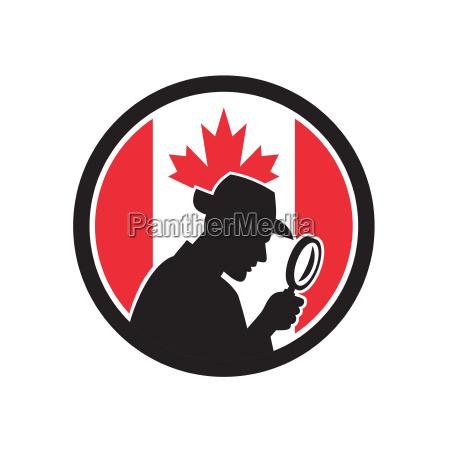canadian private investigator canada flag icon