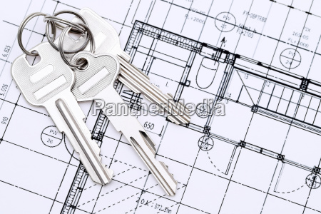 keys on blueprint creating new architectural