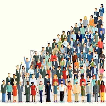 an international population illustration