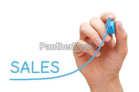 sales increase graph concept