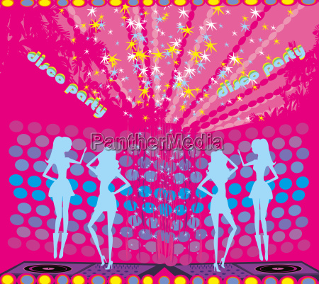 background disco party drinks entertainment