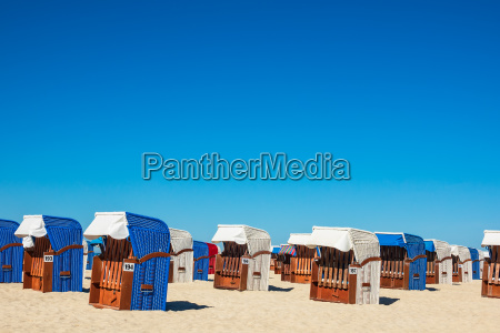 beach chairs on the beach of