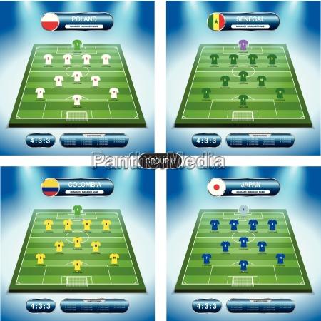soccer team player plan group h