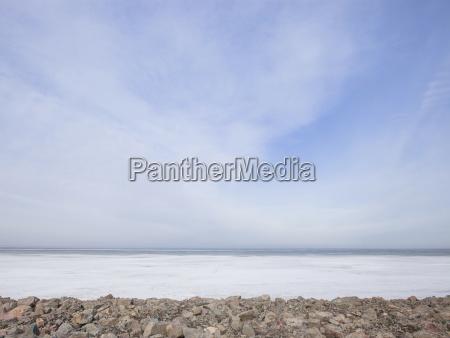 idyllic view of rocks at beach